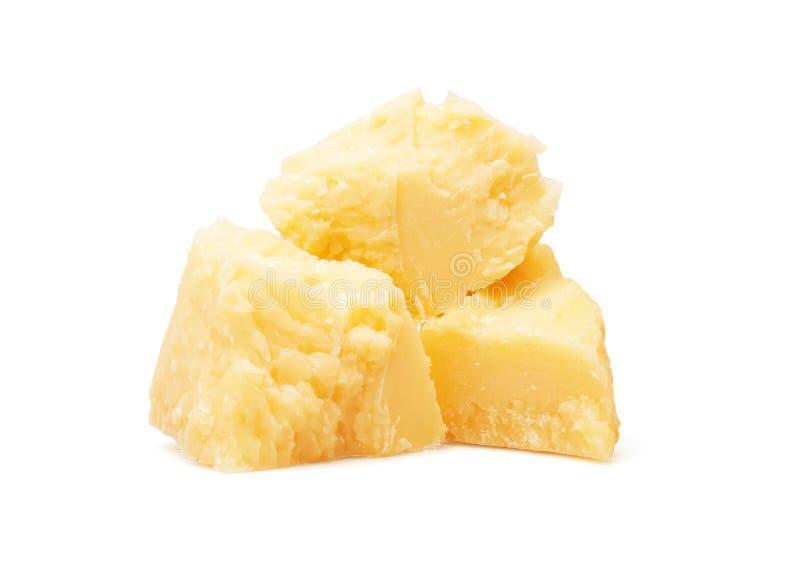 ost isolerad parmesanwhite royaltyfria bilder