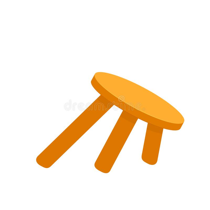Ostadiga tre lagd benen på ryggen stol royaltyfri illustrationer