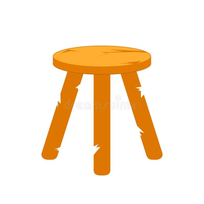 Ostadiga tre lagd benen på ryggen stol vektor illustrationer