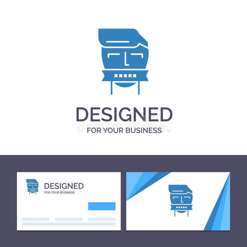 Ostaggio del modello creativo di logo e del biglietto da visita, bocca, avversario, chiusa, illustrazione di vettore del terroris royalty illustrazione gratis