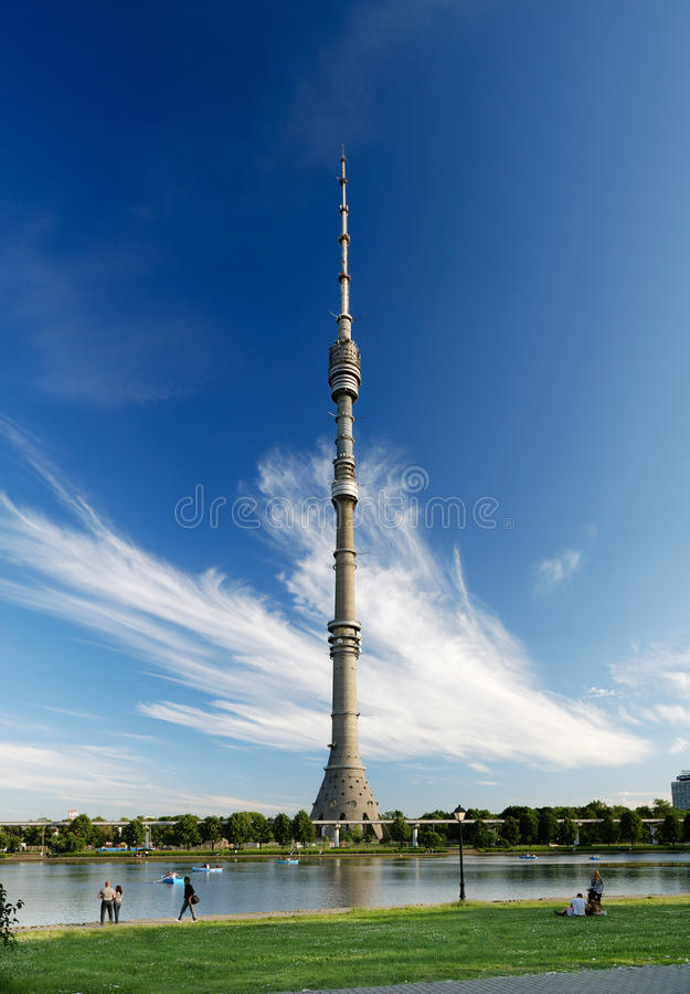 Download Ostankino TV Tower stock photo. Image of beauty, antenna - 16512558