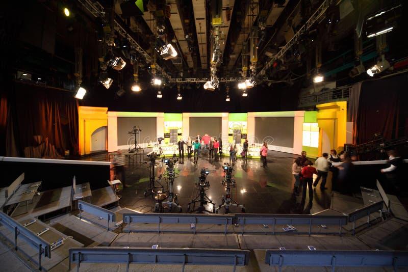 ostankinofolket station studiotelevisionen fotografering för bildbyråer