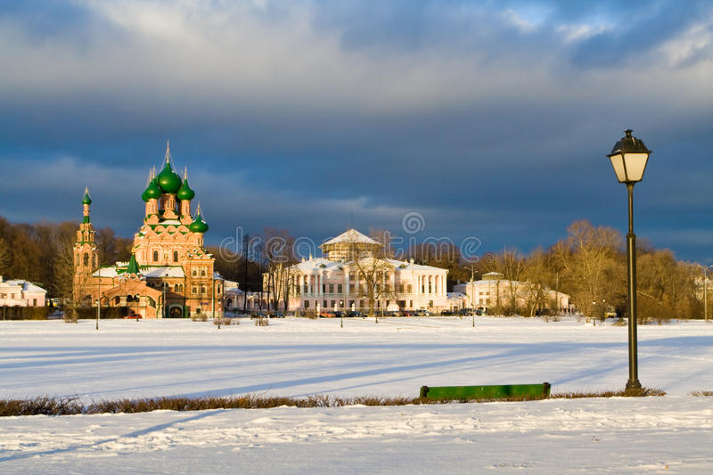 Ostankinsky Teich, Moskau, Russland lizenzfreie stockfotografie