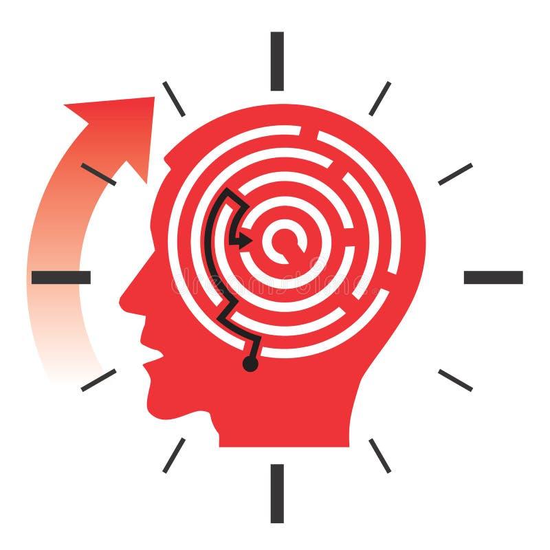 Ostatecznego terminu stresu pojęcie ilustracja wektor