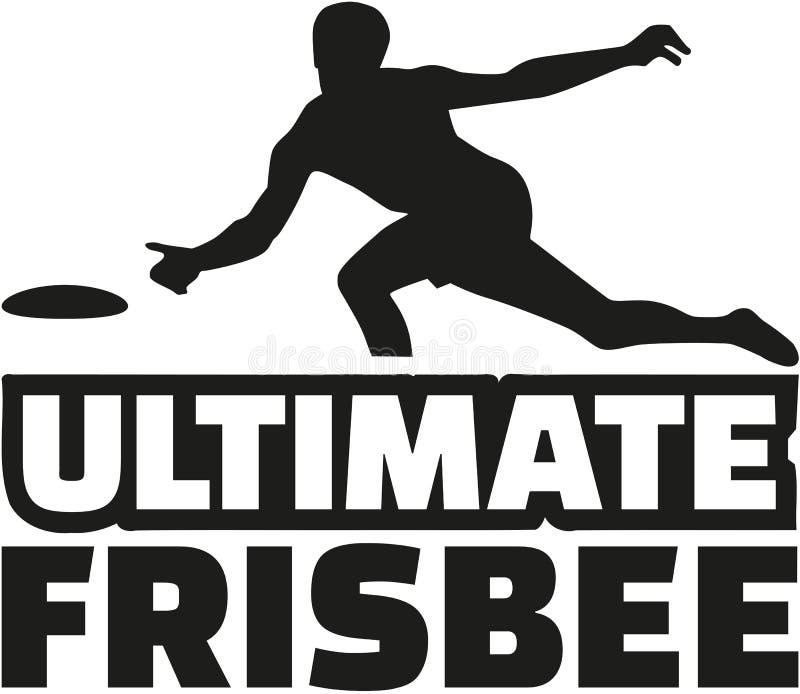 ostateczny frisbee gracz royalty ilustracja