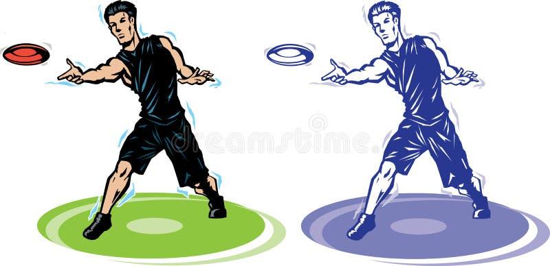 ostateczny frisbee gracz ilustracja wektor