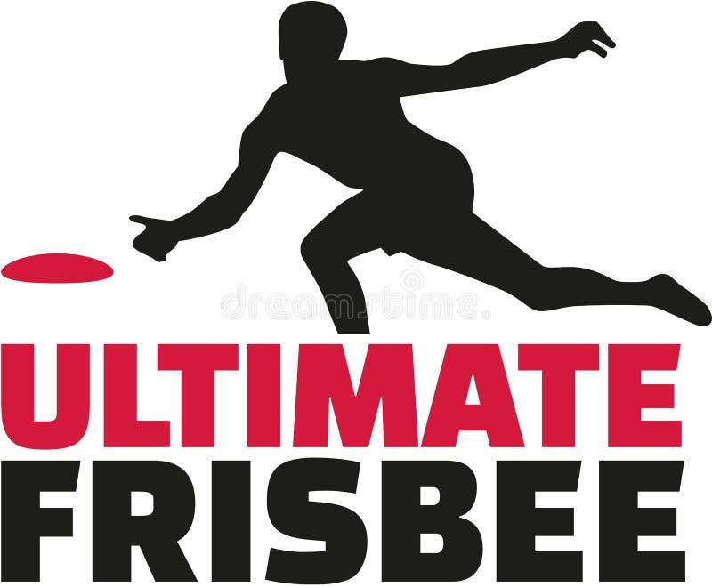 Ostateczny frisbee słowo z graczem ilustracja wektor