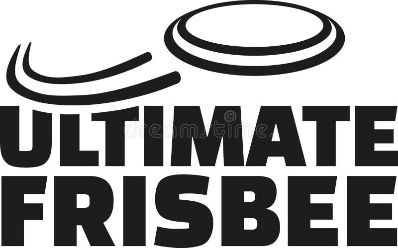 Ostateczny frisbee z latającym frisbee ilustracji