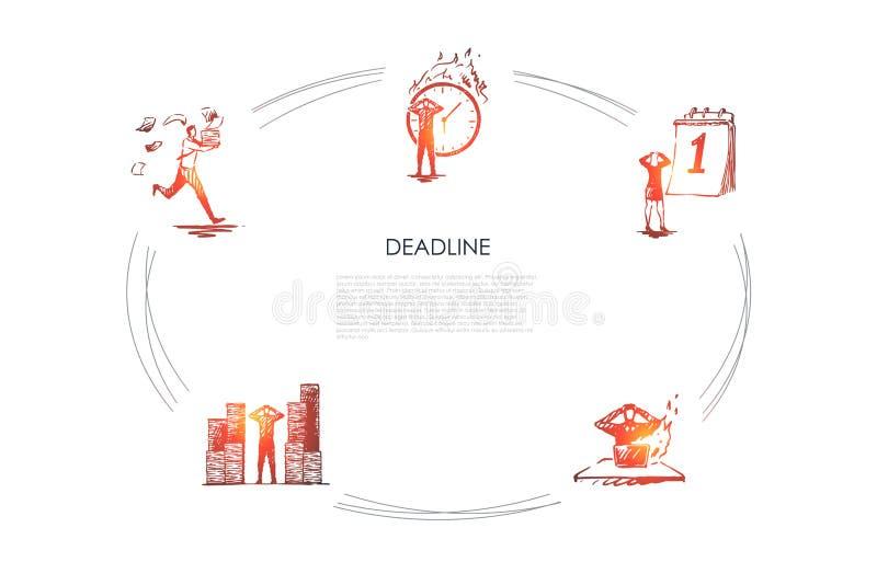 Ostateczny termin - ludzie biznesu ?pieszy w g ilustracji