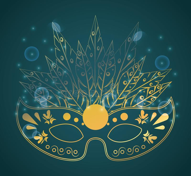 Ostatki maska royalty ilustracja