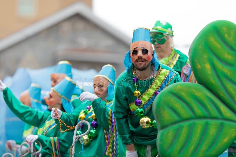 Ostatki parada Nowy Orlean fotografia royalty free