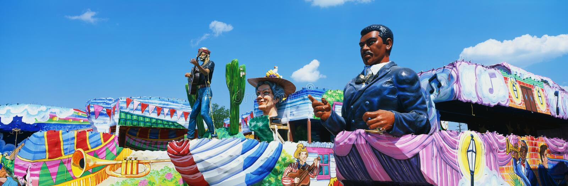Ostatki paradują w Nowy Orlean obraz royalty free