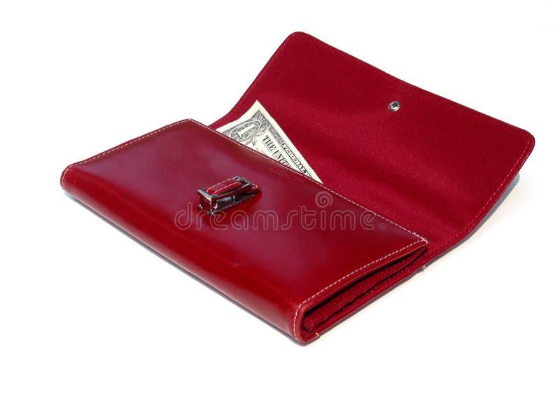 ostatni dolar portfel. zdjęcia stock