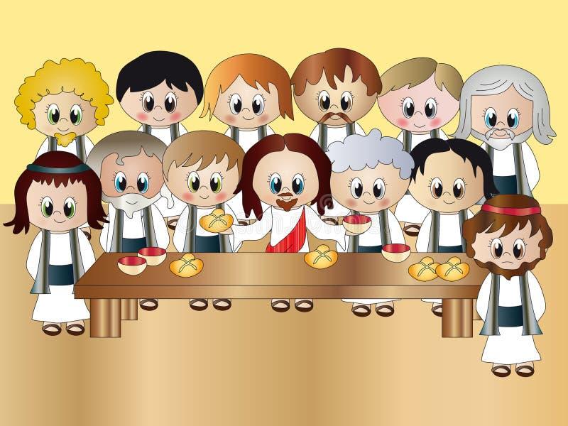 ostatni Jesus kolacja ilustracja wektor