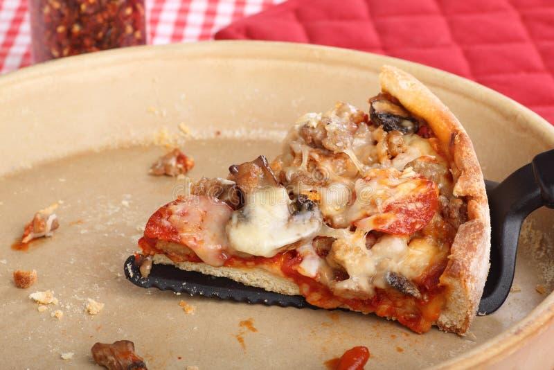 Download Ostatni pizza plasterek obraz stock. Obraz złożonej z posiłek - 28954237