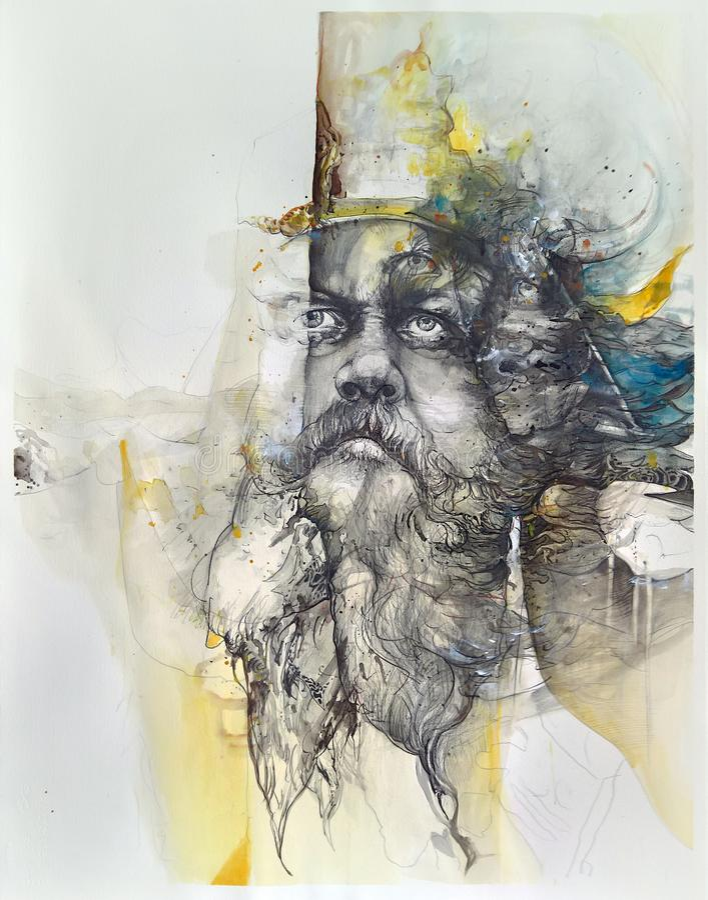 Ostatni Viking royalty ilustracja