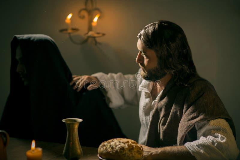 Ostatnia kolacja jezus chrystus zdjęcia stock