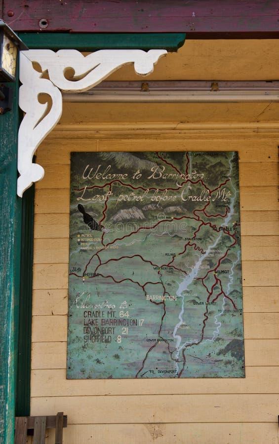 Ostatnia paliwowa przerwa dla Kołysankowego Halnego Tasmania obrazy stock