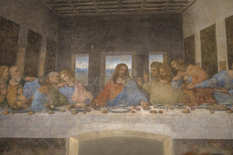Ostatniej kolaci obraz zdjęcie stock