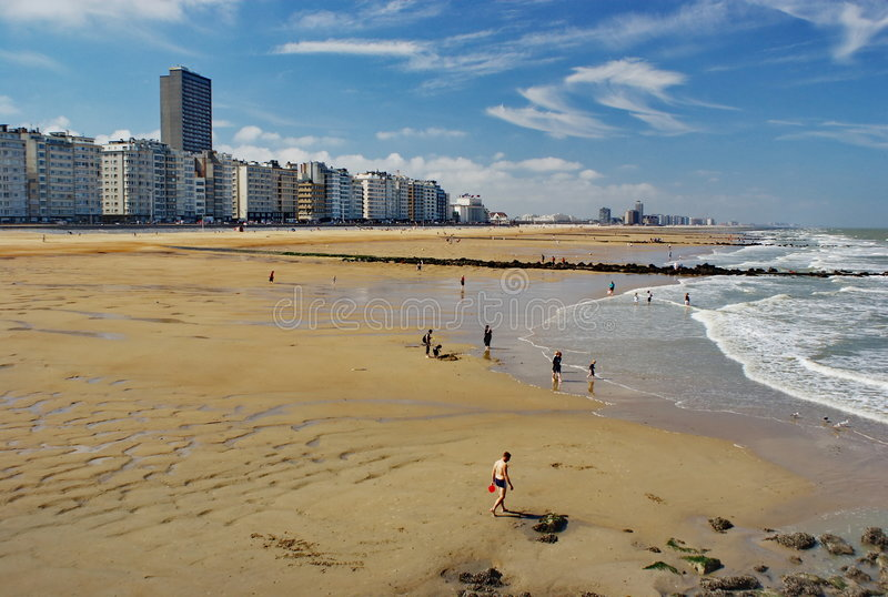 Download Ostend, Low Tide Stock Image - Image: 7131821