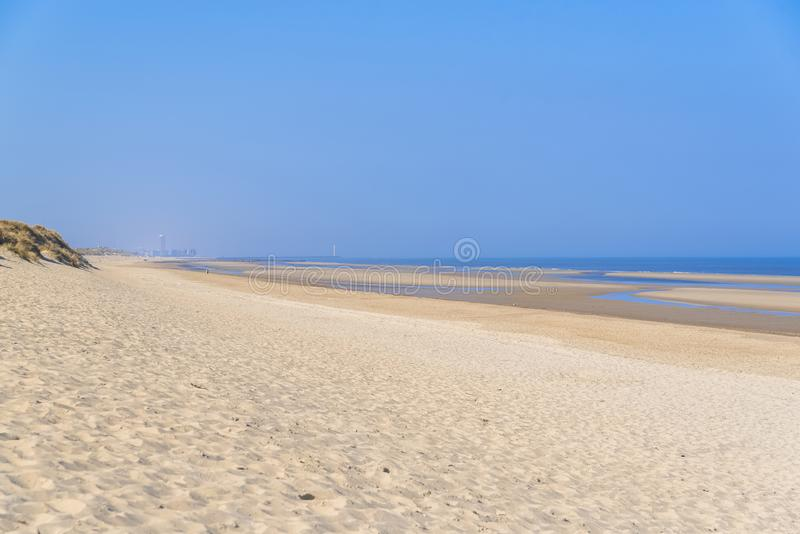 Ostende in Belgium, beach royalty free stock images
