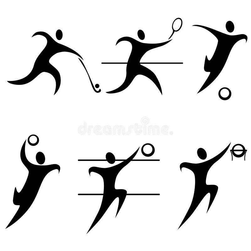 Ostenta ícones. Olympics. ilustração stock
