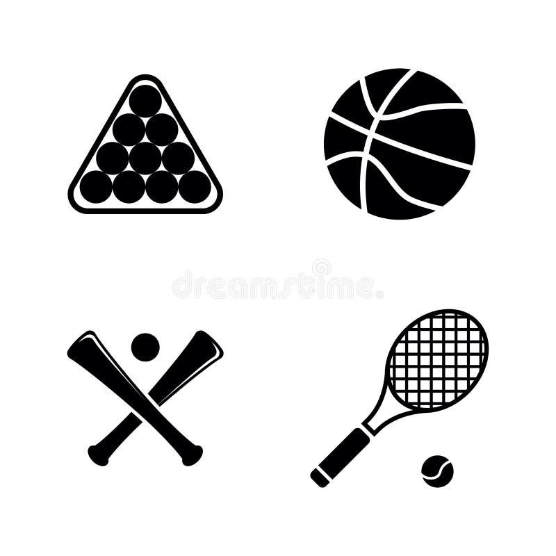 Ostenta a bola Ícones relacionados simples do vetor ilustração stock