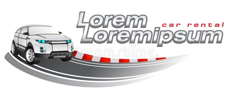 Ostenta corridas de carros, molde do logotipo do vetor ilustração stock