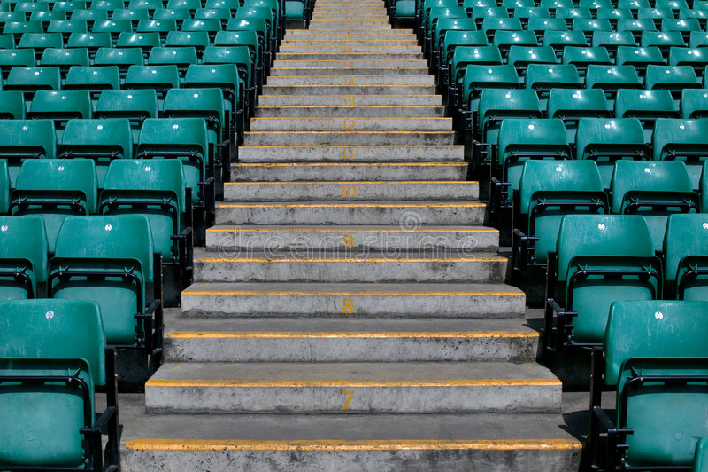 Ostenta etapas do estádio fotografia de stock royalty free