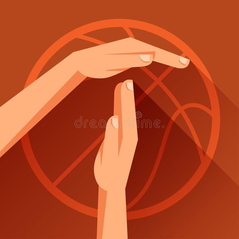 Ostenta a ilustração com sinal do gesto do basquetebol ilustração royalty free