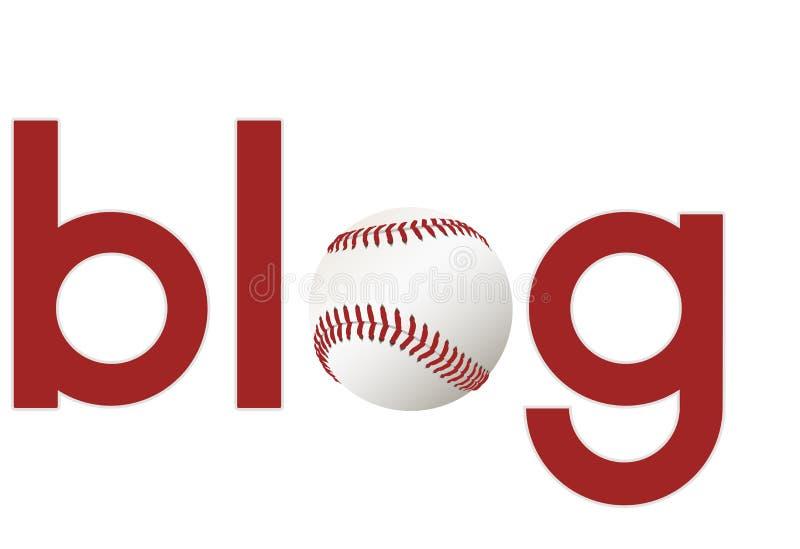 Ostenta o blogue sobre o basebol ilustração stock