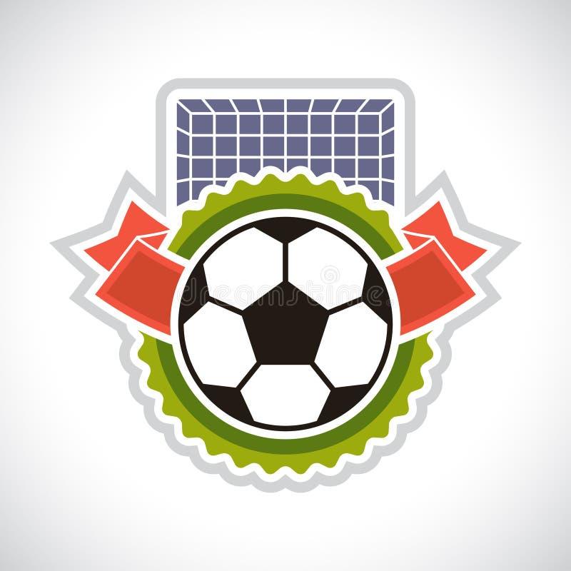 Ostenta o crachá do futebol do futebol da ilustração ilustração royalty free