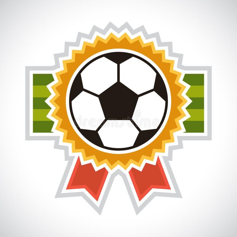 Ostenta o crachá do futebol do futebol da ilustração ilustração stock