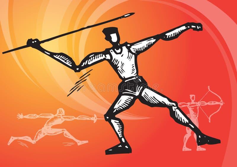 Ostenta o javeline ilustração royalty free