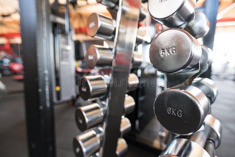 Ostenta pesos Pesos no gym foto de stock