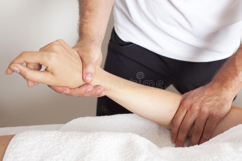 Osteopathic treatment stock images