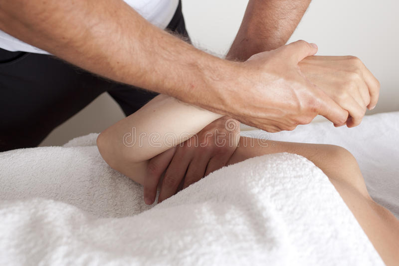 Osteopathic treatment royalty free stock photo