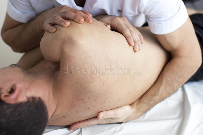 Osteopathie stock foto's