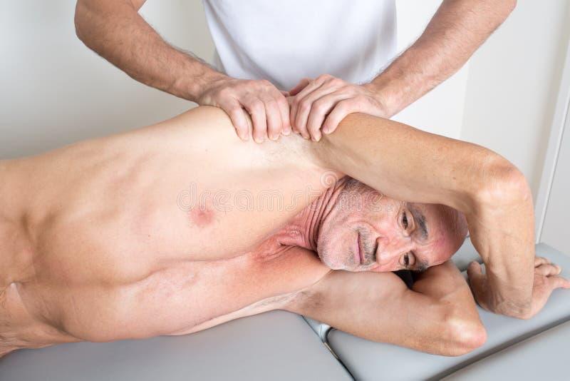 osteopathie royalty-vrije stock afbeeldingen