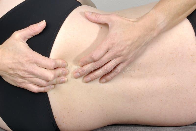 Osteopathybehandling fotografering för bildbyråer