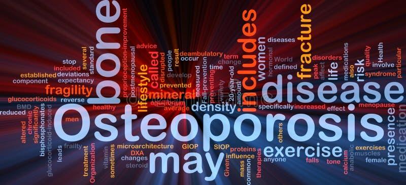 Osteoperosis Knochenhintergrund-Konzeptglühen stock abbildung