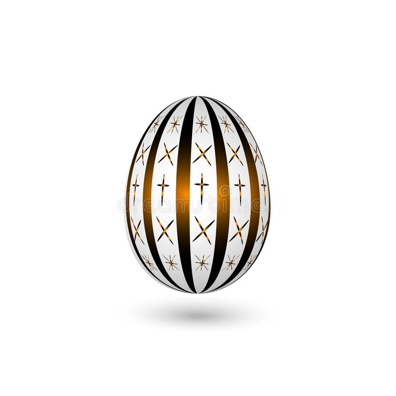 Osterei auf einem weißen Hintergrund Lichteffekt des Glühens Auch im corel abgehobenen Betrag stock abbildung