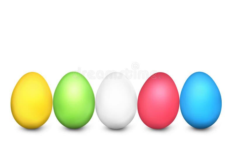 Ostereier festliches farbiges 3d übertragen lizenzfreie abbildung