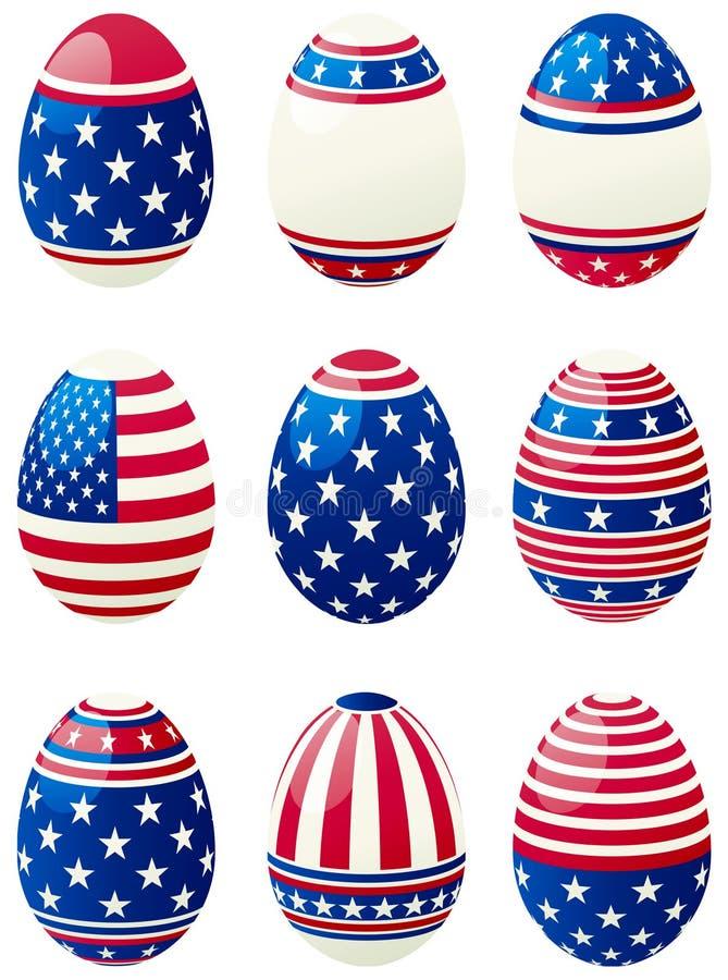 Ostereier Mit Amerikanischer Flagge Vektor Abbildung - Illustration ...