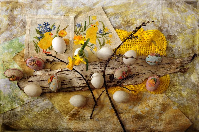 Ostereier: Topansicht lizenzfreie stockfotografie