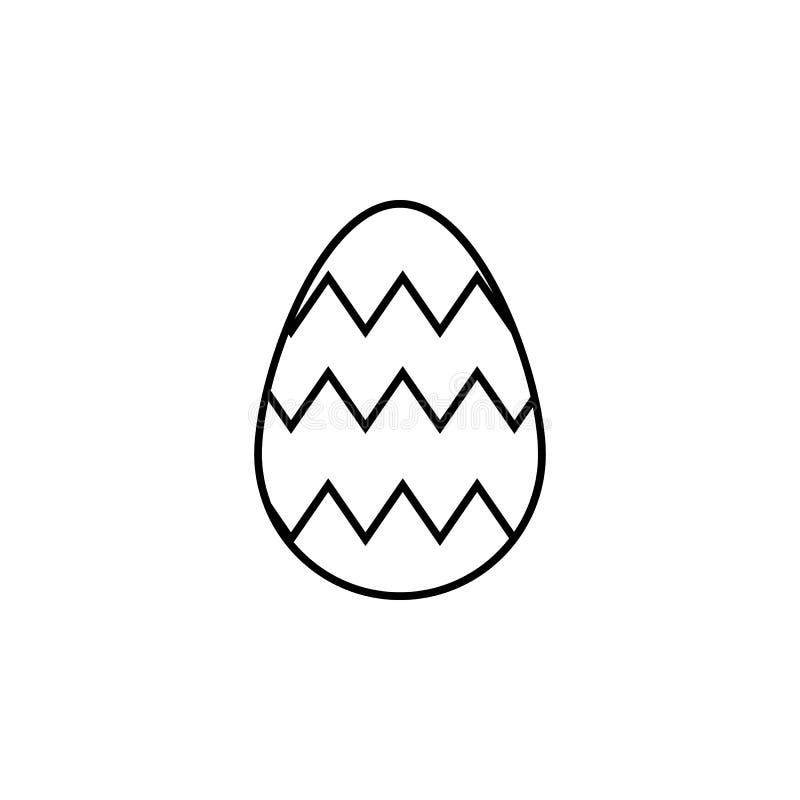 Ostereiikone Element von Ostern-Feiertag für bewegliche Konzept und Netz apps Dünne Linie Ikone für Websitedesign und Entwicklung vektor abbildung