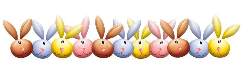Osterhasen-Kaninchen geht Rand voran lizenzfreie abbildung