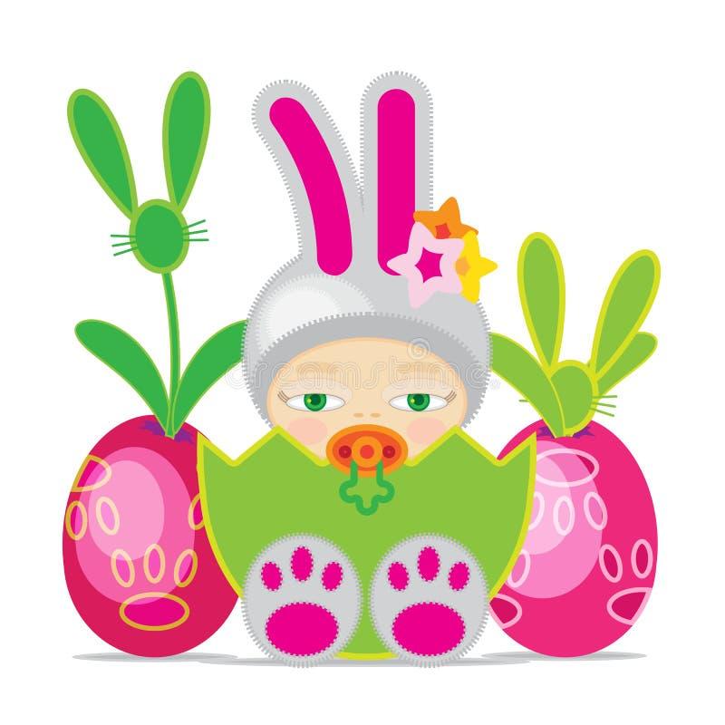 Ostern-Baby lizenzfreie stockfotografie