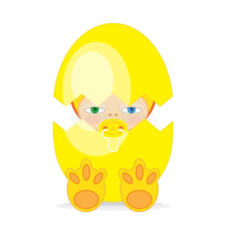 Ostern-Baby vektor abbildung