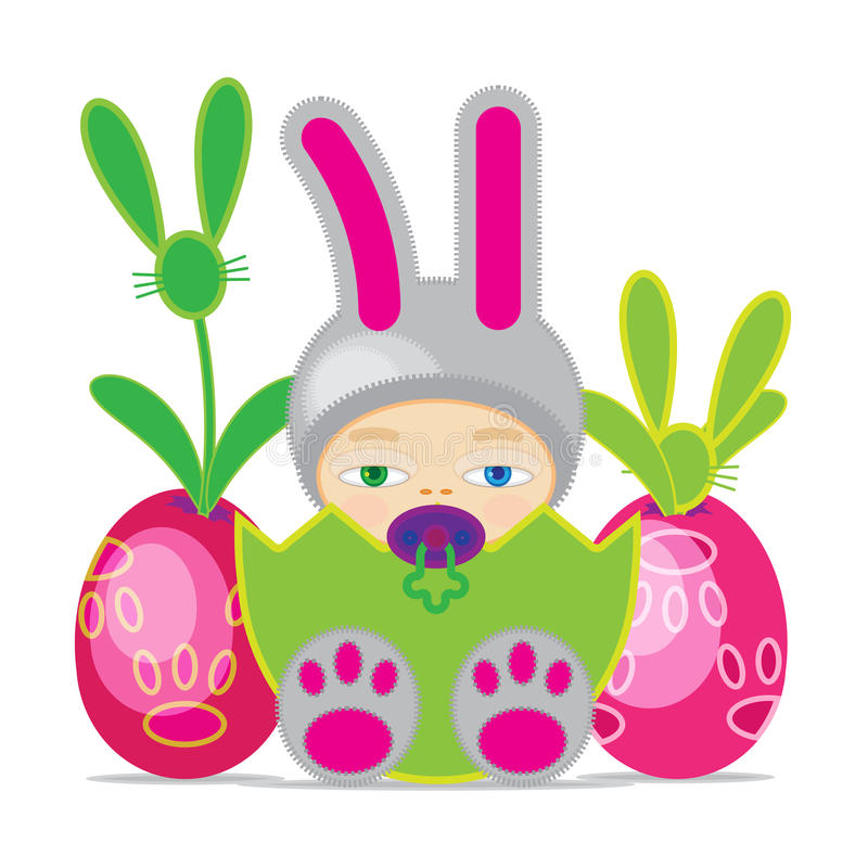 Ostern-Baby stock abbildung